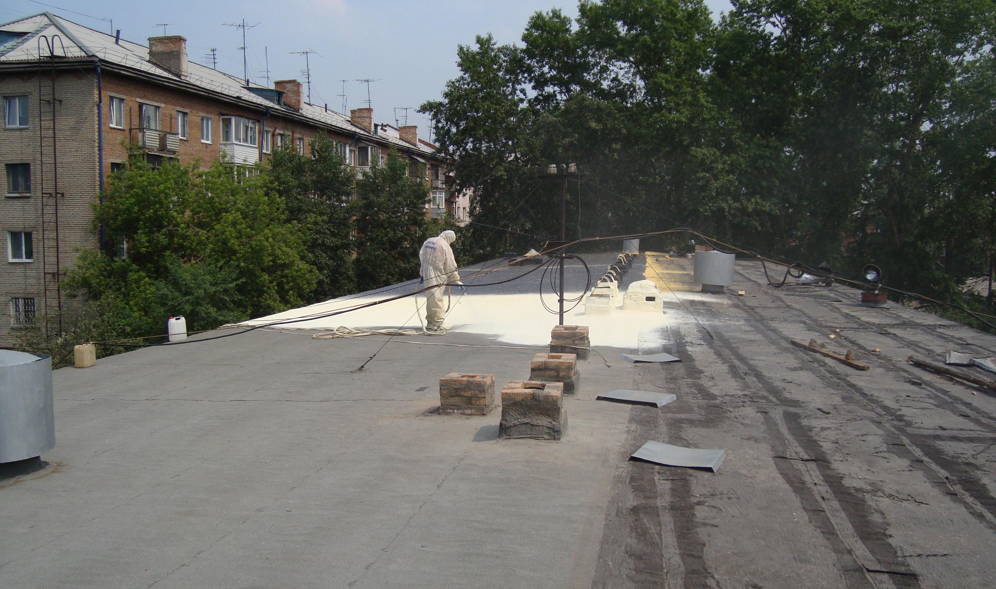ремонт крыши полимочевиной